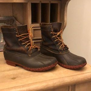 LL Bean Boots Bison Leather